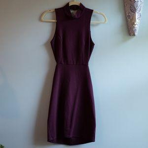 NWT SOLEMIO Boutique Burgundy Bodycon Cutout Dress